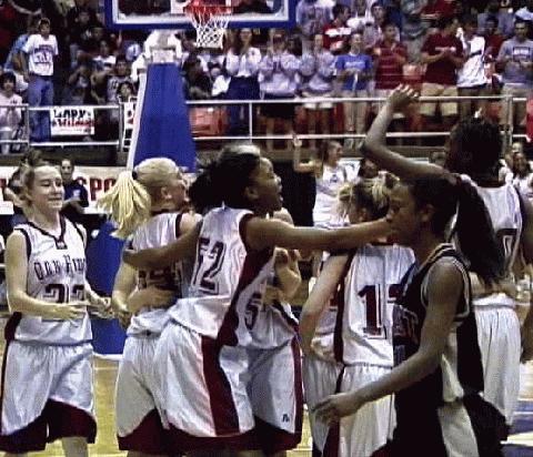 Oak Ridge- Lady Cats celebrate the win