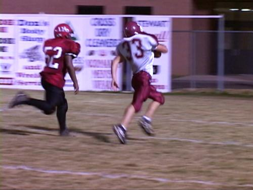 33 Clayton Alexander takes the fumble recovery into the endzone for the TD