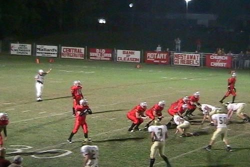 McKenzie lines up in shotgun on offense