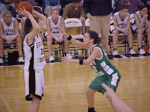 Courtney Beal of the Lady Irish