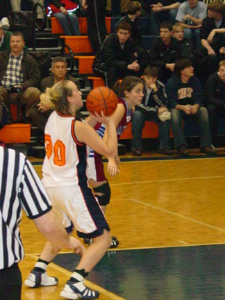 Katherine Ivey at the foul line.