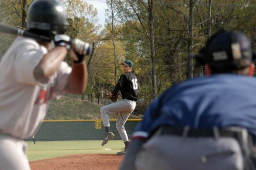 FACS's Andrew SIllyman throws a 3-2 complete game victory against Raleigh-Egypt