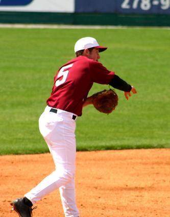 Cougar Cody Overbeck makes the play at short.