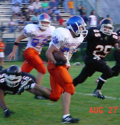 Cougar RB Chris Johnson rushed for 107 yds on 25 carries in the 9-0 win over MoEast. (stats unofficial(