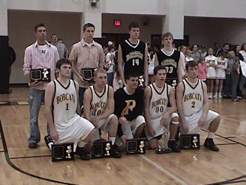 The region 4-A all tournament team from Clay County #33 Jr. Jon Godwin, #14 Jr. Dustin Rich, from Pickett County #1 Josh Wright, #30 Nathan Groce, #23 Joseph Bailey, #00