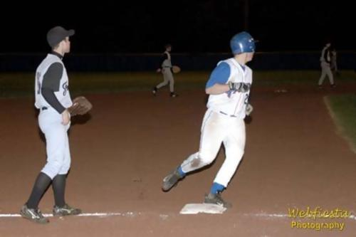 Corey Herald rounds third base