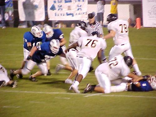Smith County's #72 Brian Smith, #76 Lee Evans and #78 Chris Fariss
