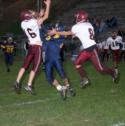 Unaka's # 8 Dustin Taylor saves a touchdown