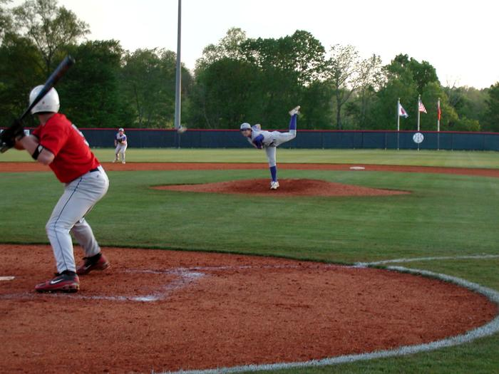 Sophomore Turner Cripps (Goodpasture) pitching to CreekWood.