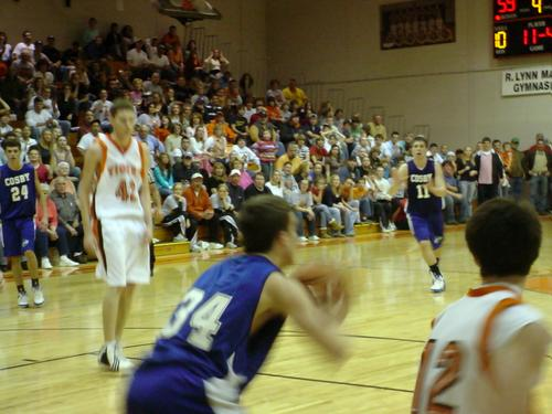 Timmy Blakely (11) calls for a pass from Jody Lowe (34)