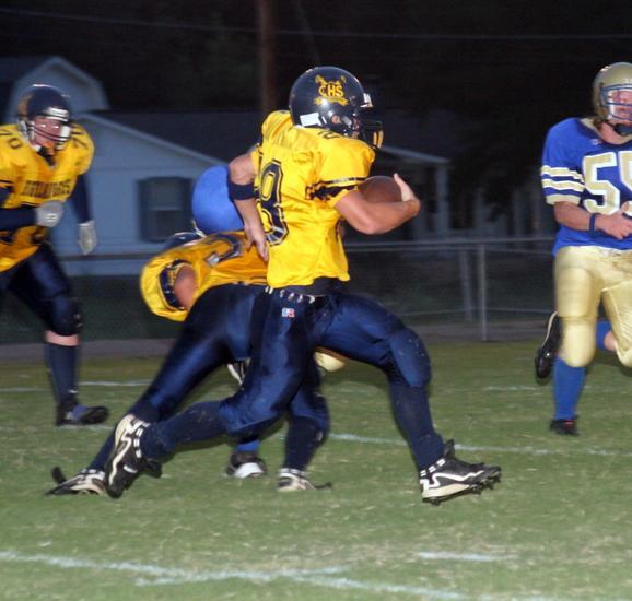 Nick Sluder on the run