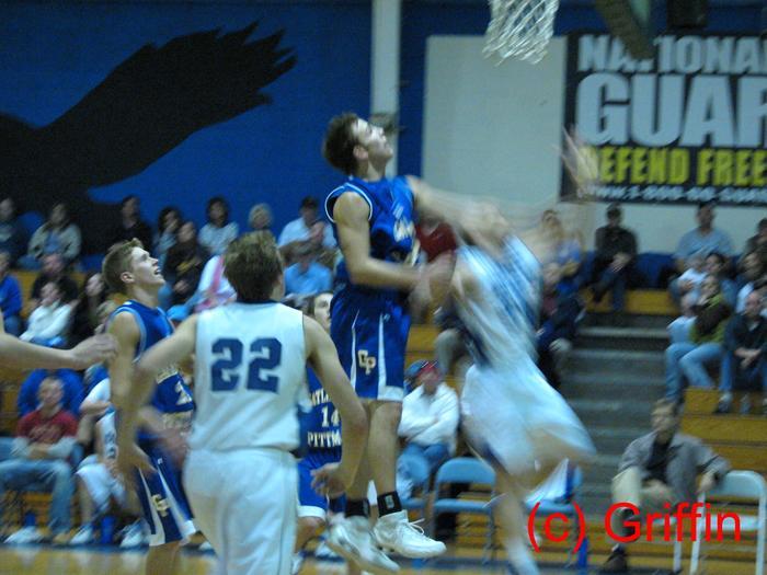 A Gatlinburg defender attempts to block an Eagle shot