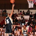 Ashley Robinson goes in for two of her 21 points.