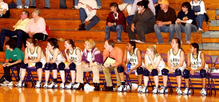 Lady Chargers bench