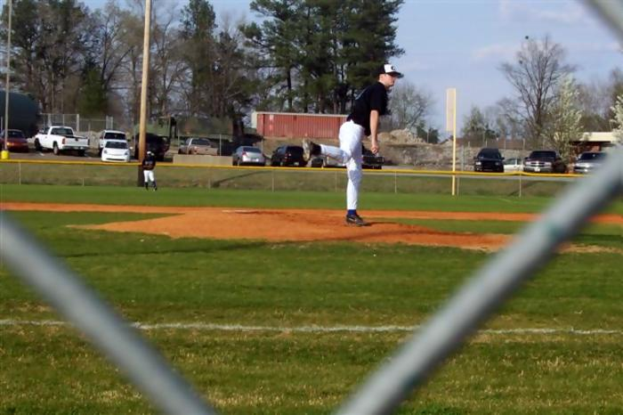 Tanner Stepp started the game on the mound.